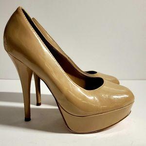 SOLD ON FB! Biege Heels Size 7.5 W